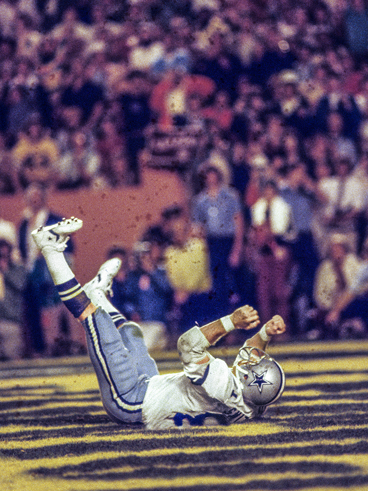 When Jackie Smith retired, he held the record for career receptions by a tight end. But he may be best known for a ball he didn't catch. The Cowboys were trailing the Pittsburgh Steelers 21-14 in the third quarter of Super Bowl XIII. Smith was wide open in the end zone when Dallas quarterback Roger Staubach hit Smith right in the numbers with a pass — which he dropped. The Cowboys had to settle for a field goal and ended up losing 35-31. It was the last game played by Smith, who was enshrined in the Hall of Fame in 1994.
