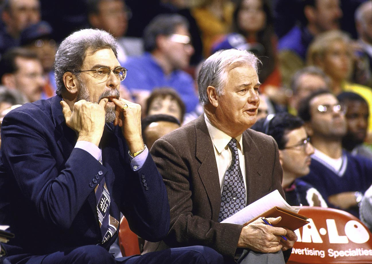 Although Sam Barry is credited with inventing the triangle offense, Winter perfected it as an assistant at Kansas State. He quite literally wrote the book on the scheme, called The Triple-Post Offense. Although he developed his system in the college ranks, it's now best known because Winter and head coach Phil Jackson used it to help the Bulls and Lakers win nine NBA championships.