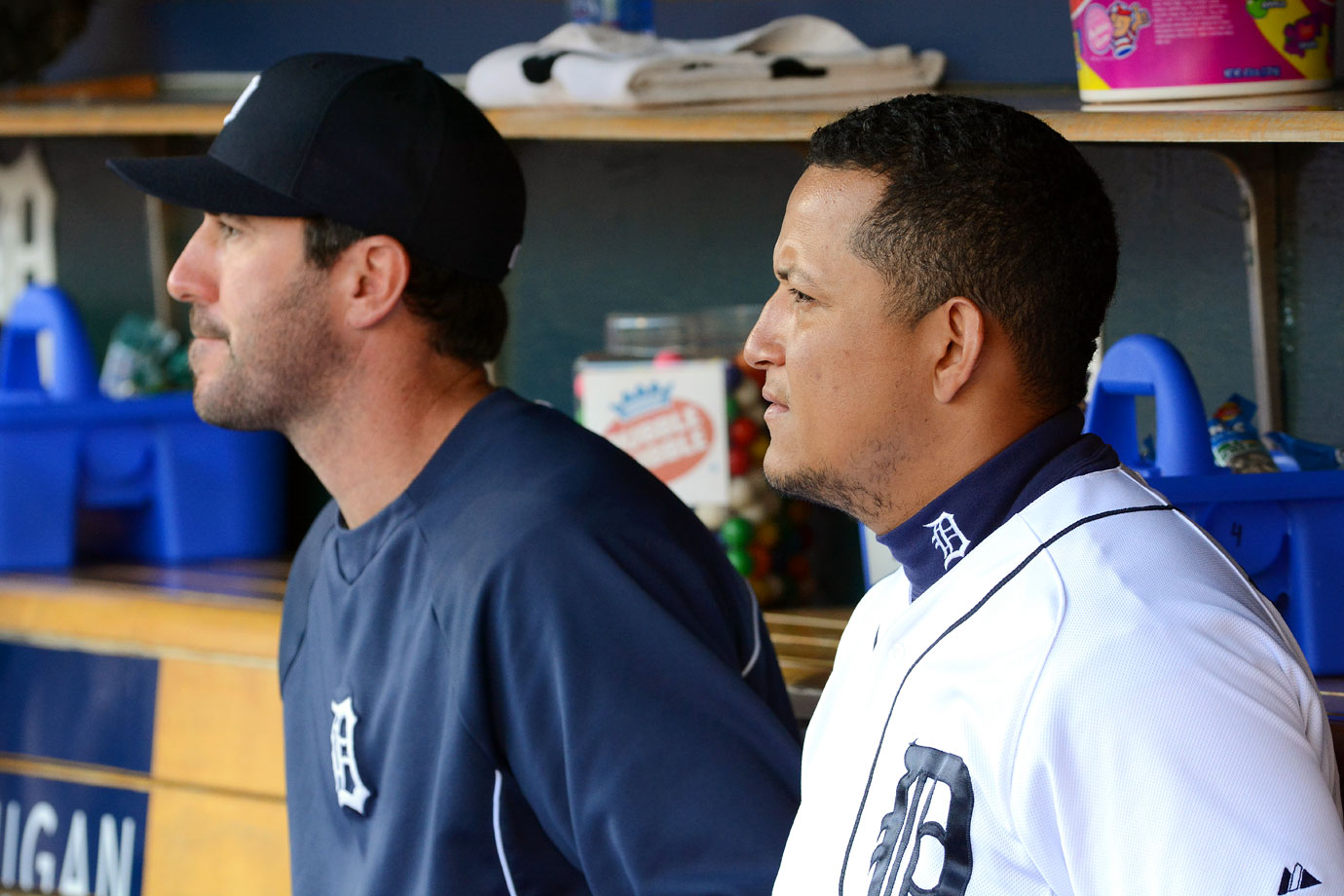 Highest salaries: Justin Verlander ($28,000,000), Miguel Cabrera ($22,000,000), David Price ($19,750,000), Anibal Sanchez ($16,800,000), Ian Kinsler ($16,000,000)