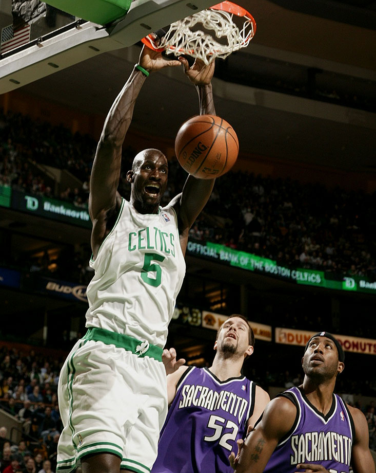 Anything was possible for defenses anchored by Garnett in his prime. One of the greatest prep-to-pro cases of all time and a perennial All-Star and All-NBA selection, Garnett transcended the game with his intensity and antics. Whether getting on all fours to bark like a dog or banging his head against the stanchion, KG always made his presence felt. — Runner-up: Jason Kidd