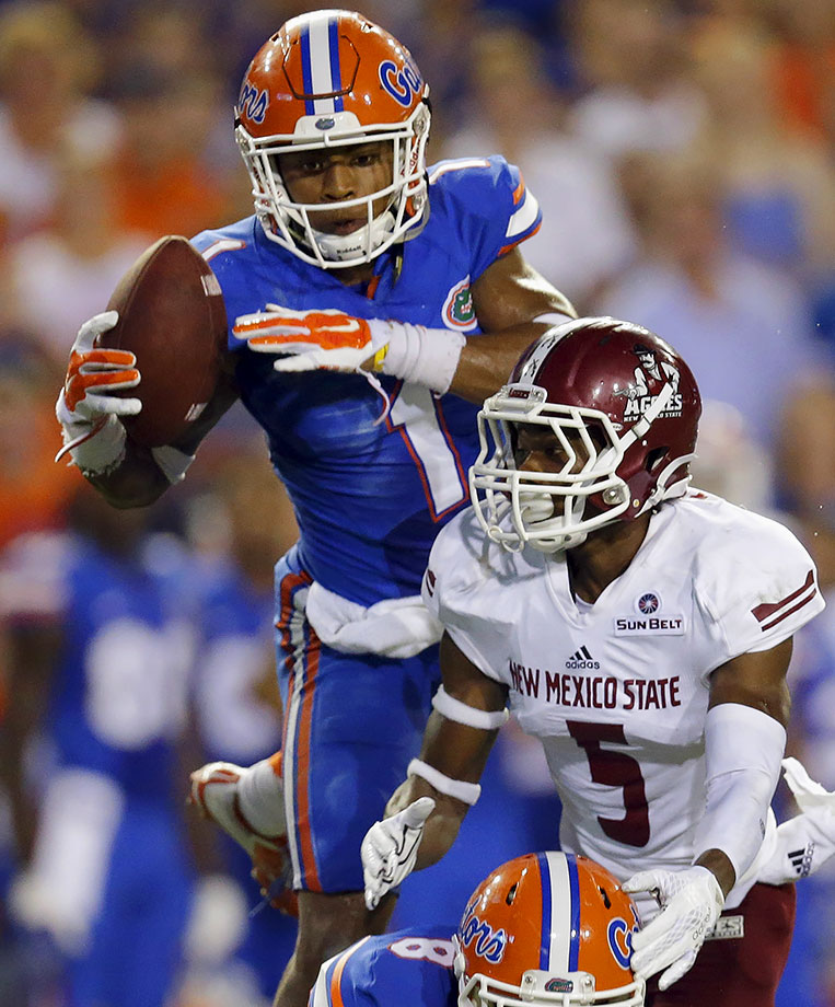 He set a career high this season with four interceptions, and he might have had more if QBs hadn't been so hesitant to challenge him. Hargreaves matched up with top receiver after top receiver during his SEC career, usually winning those battles. He falls just shy of the 6-foot mark, but he plays bigger than that height.