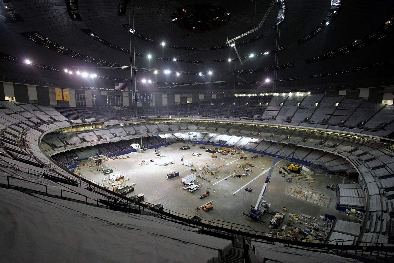 Aug. 8, 2006: Repairs and renovation work is still being done on the Superdome.