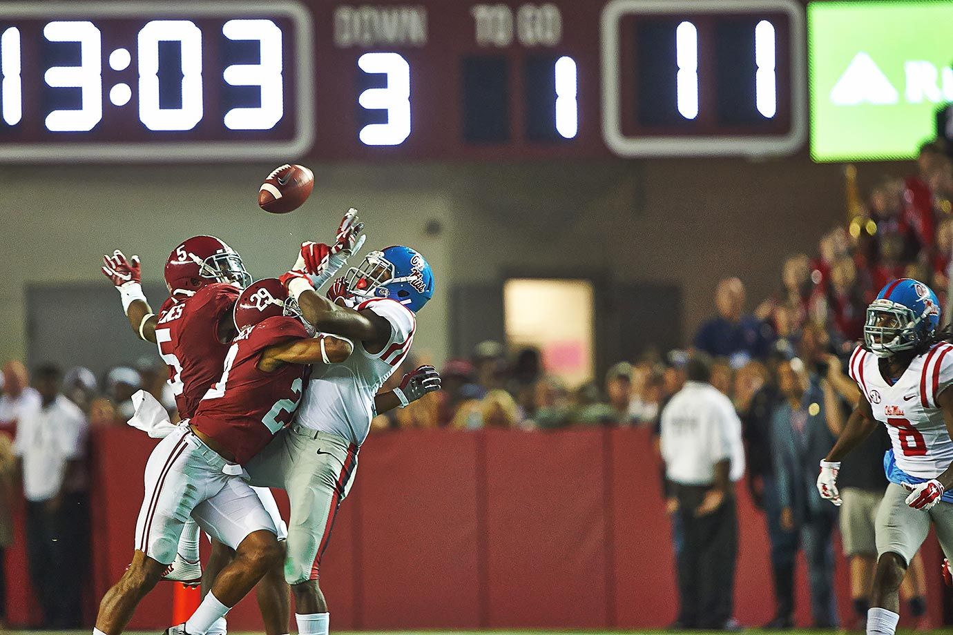 """The 2015 iteration of """"Let's Get Weird,"""" Ole Miss-Alabama featured one of the most unlikely touchdowns of the season, one of the most vicious hits of the season and the Crimson Tide's only loss of the season. For a moment we thought Chad Kelly would be the SEC's breakout star and Ole Miss would be a national title contender, but then the Rebels proceeded to get blown out by Florida two weeks later."""