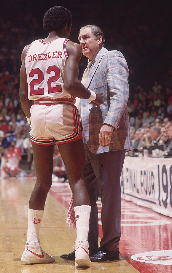 Lewis had a near-dynasty at Houston with his Phi Slama Jama teams. His contribution to the game was allowing his players to employ a playground-influenced, freewheeling form of basketball. His contemporary John Wooden considered dunking unsportsmanlike; Lewis insisted that his players dunk.