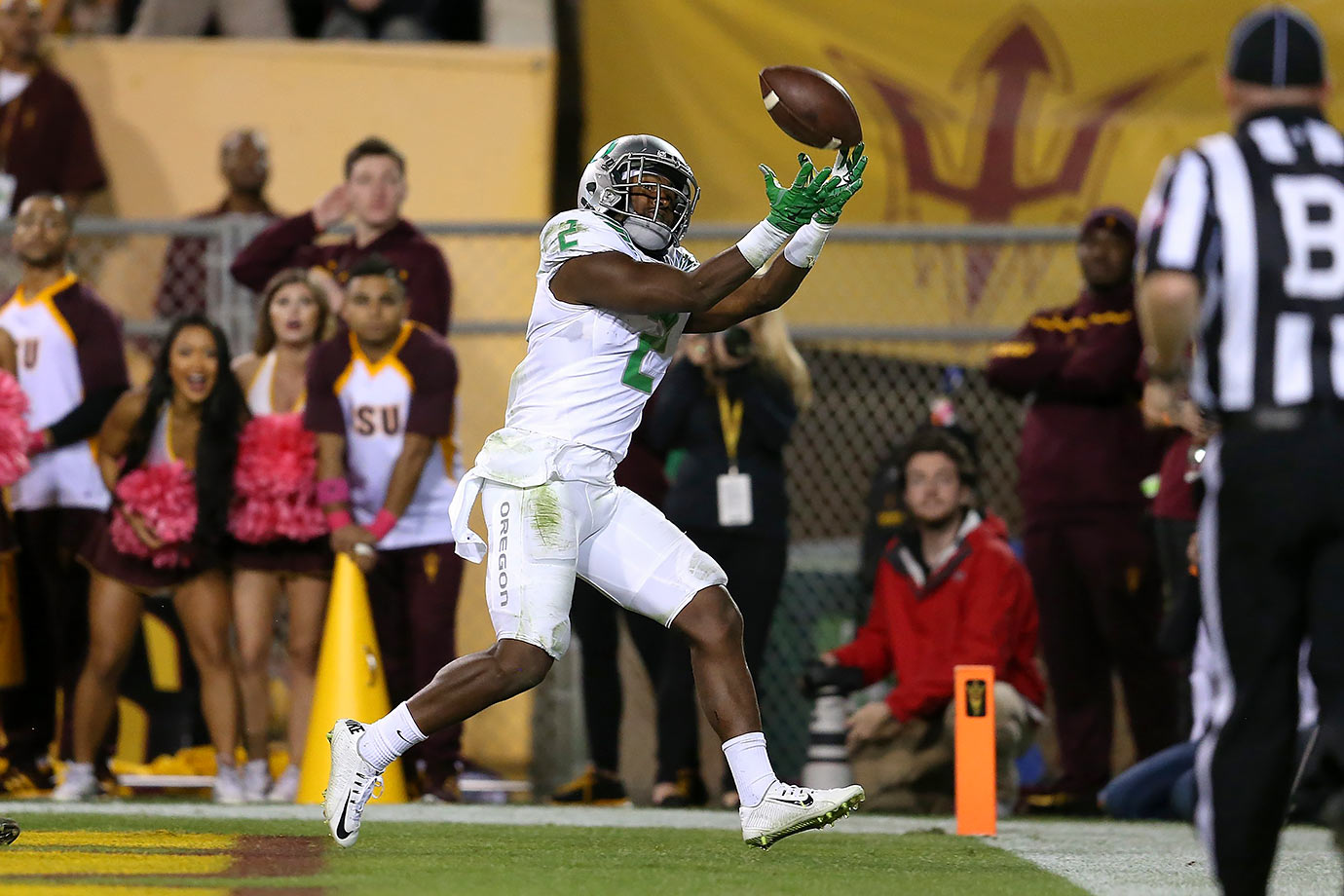 The Ducks edged Arizona State in a game in which the two teams combined for more than 1,200 yards of total offense, 15 touchdowns, three overtimes and a controversial conclusion. It's safe to assume that anyone who elected to tune in for this Thursday night thriller was not disappointed.