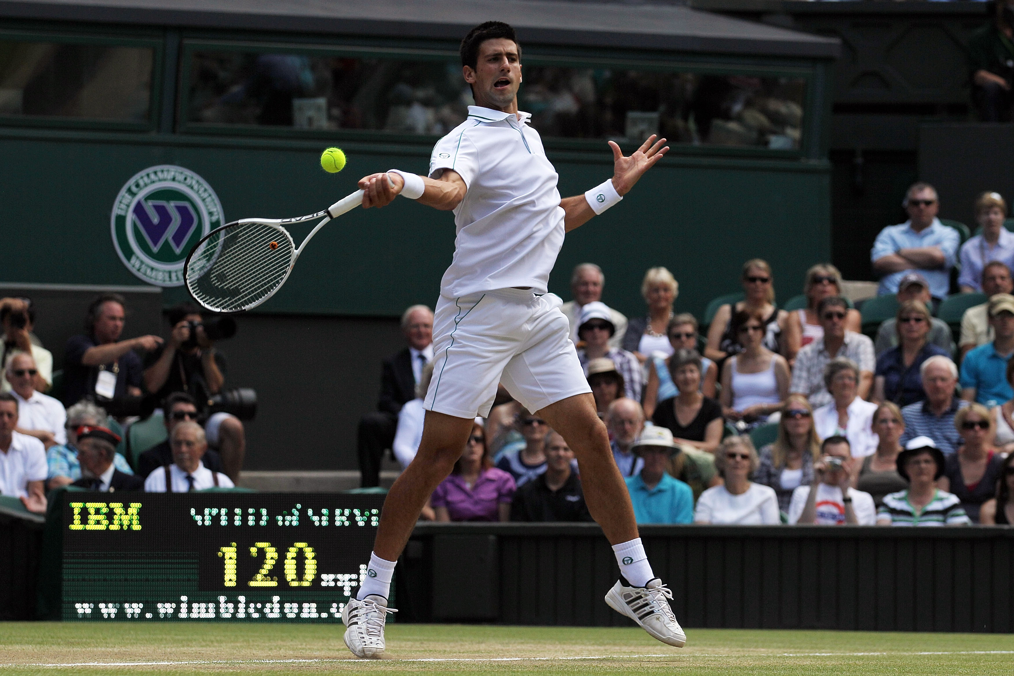 Adidas redeemed itself with Novak's all-white Wimbledon look.