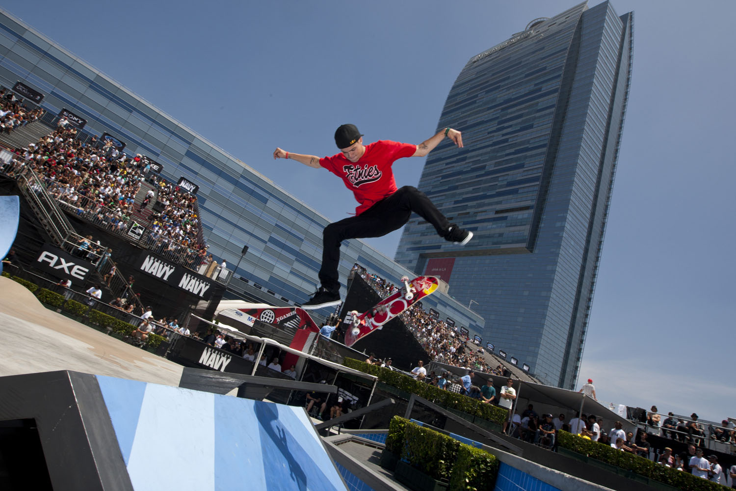 Ryan Sheckler competes at the Skate Street event during X Games 16 on July 31, 2010 in Los Angeles, California.