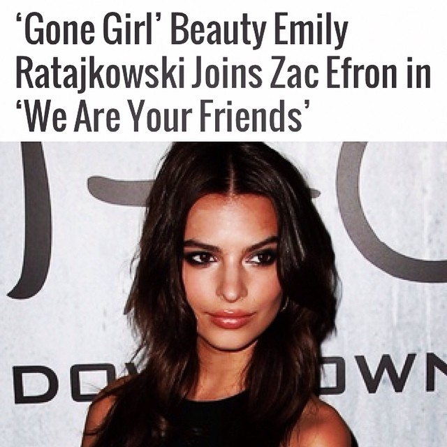 "So happy to announce my lead role opposite @zacefron in the film ""We Are Your Friends""! #workingtitlefilms"