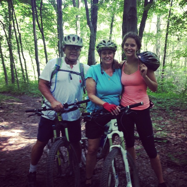 Mom and Dad and I post 11 mile ride @miasophia59 #home
