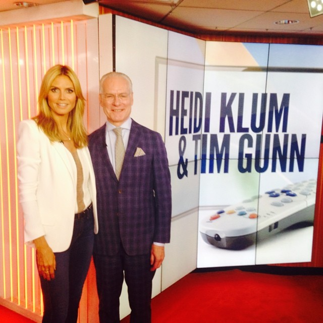 We are going on @todayshow now! Tune in to watch @timgunn and me talk about @projectrunway !