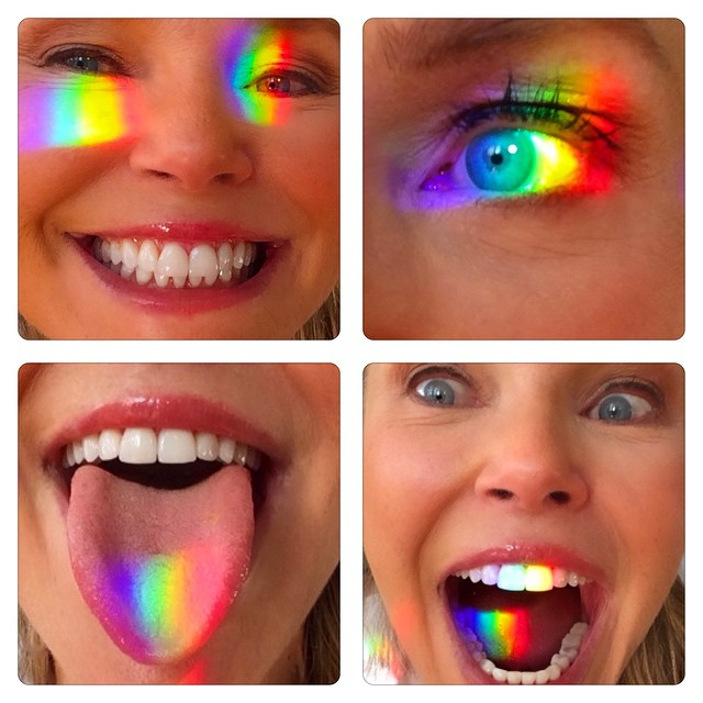 See No Evil, Hear No Evil, Speak No Evil, as Maya Angelou says Be a rainbow in someone else's cloud! #selfieswitharainbow!