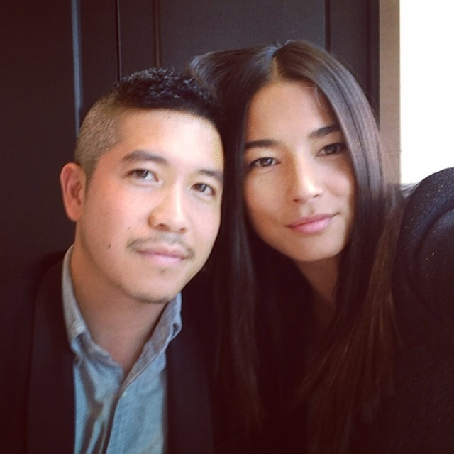 I get the pleasure of sitting next to one of my favorite designers @thakoonny We have just witnessed some amazing talent for the @thewoolmarkcompany Asia competition in Tokyo. @chic_management