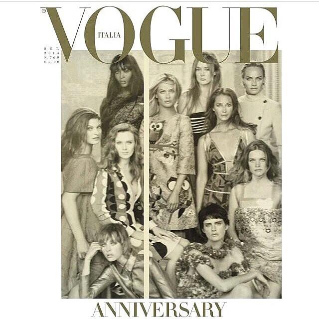 Happy 50th Italian Vogue! @vogueitalia #stevenmeisel @carlynecerfdedudzeele @patmcgrathreal @guidopalau @cturlington @ambervalletta @raquel_zimmermann @iamnaomicampbell @ediebcampbell @misskarenelson @natasupernova #stellatenant #lindaevangelista
