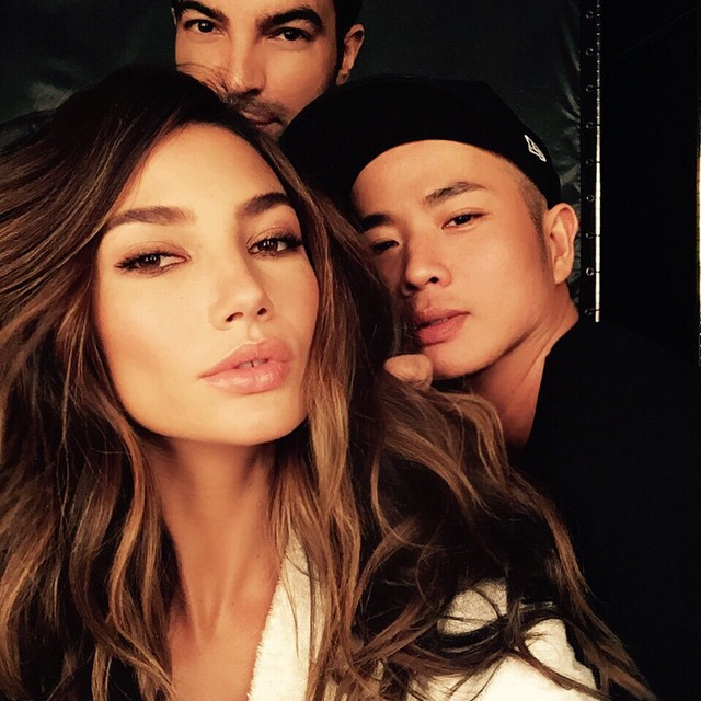 @HarryJoshHair & @HungVanngo giving Glam today for @VictoriasSecret