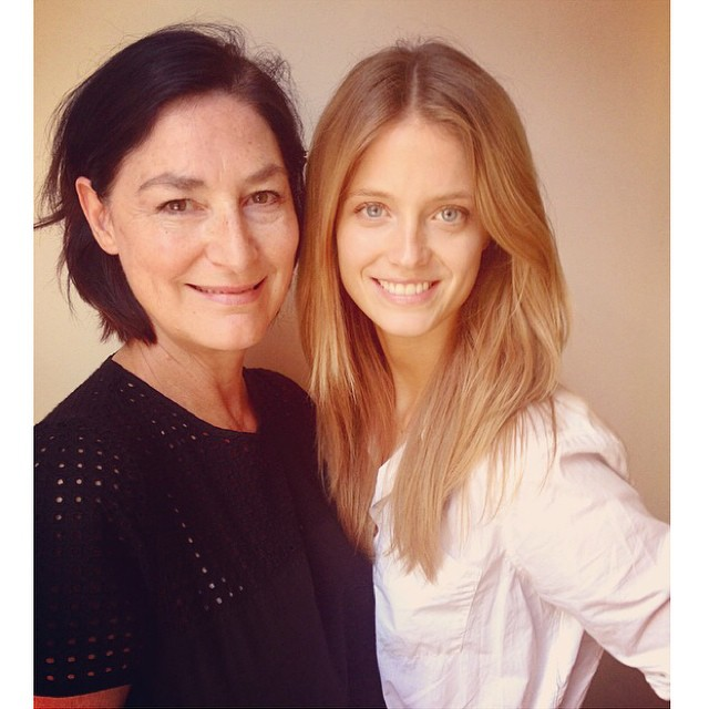 Lovely catch up and lunch with my mother agent @lizbellagency xx
