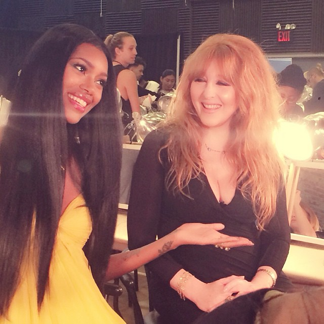 Behind the scenes at #DonnaKaranFashionShow #NYFW Check me out while zI interview Charlotte Tilbury, World Famous Make up Artist! Also interviews with Kendall Jenner, and The one and only Donna Karan!! Tune In Next Thursday only on E! #ENYFW