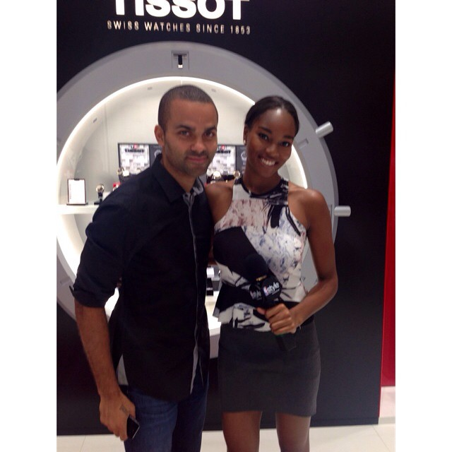 Early morning interview with Tony Parker for his new signature watch with Tissot! #NBAStyle