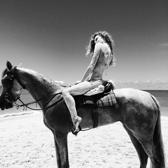 That day we went to the mud bath, I rode a horse, and swam in the perfect ocean... photo credit @georgiaphotonyc