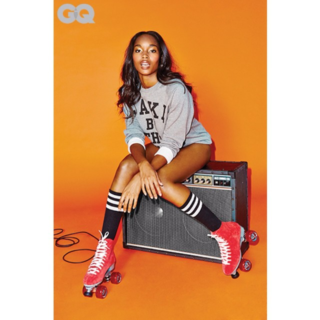 @damarislewis sizzles in her #interview and shoot with @gq, photographed by @richterfit. Now on GQ.com!