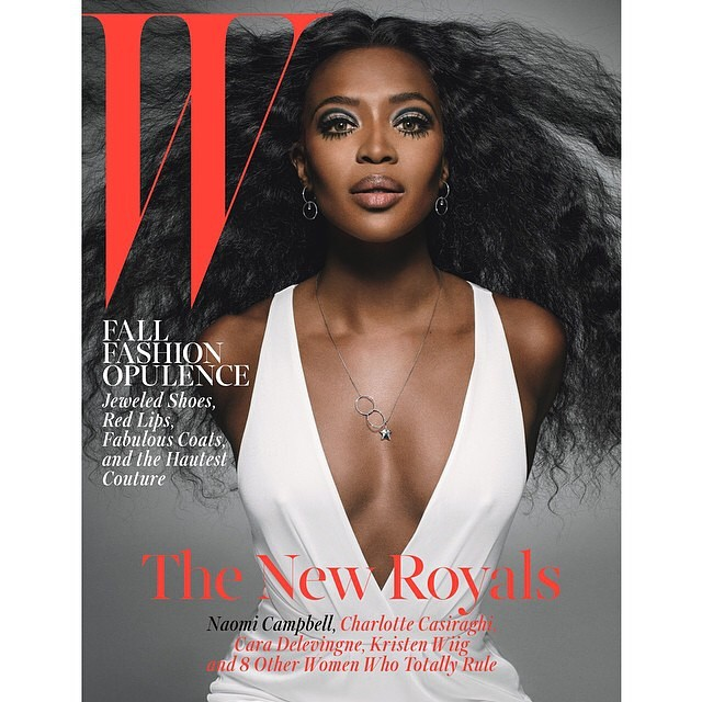 Queen @iamnaomicampbell covers the October Issue of @wmag. Shot by @inezvinoodh and styled by @edward_enninful | #naomicampbell #wmagazine #covers