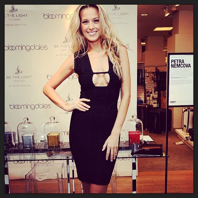 @HerveLeger never disappoints. #littleblackdress in between big @bethelightnewyork #candles. Check them out at #bloomies59th. @bloomingdales #bloomingdalesnyc. #59th #instagreat #instagood