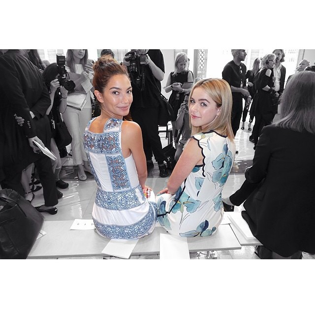 Front row at @ToryBurch with this sweet angel @kiernanshipka Regram: @jaredeng