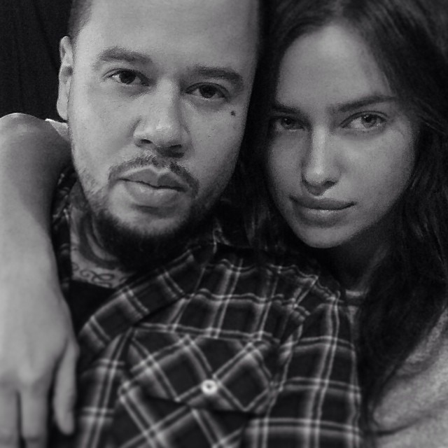 With the beautiful Irina Shayk @irinashayk ... Just did her first tattoo