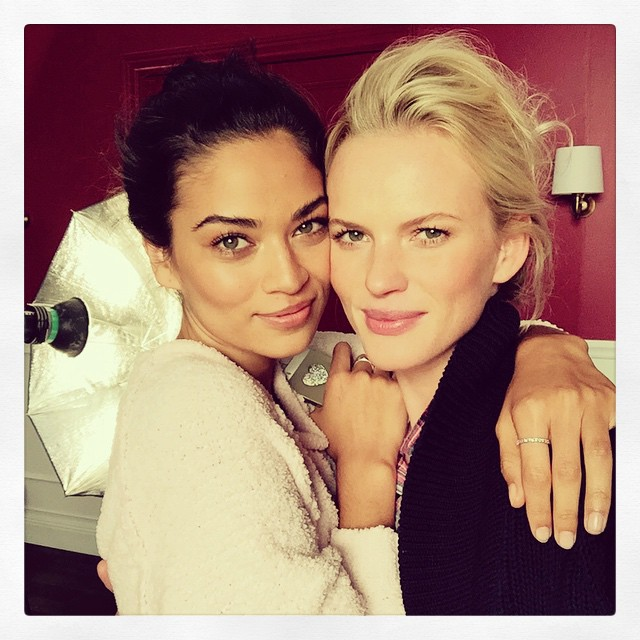 Tons of love from Stockholm from my extremely beautiful inside and out shoot partner @shaninamshaik and I