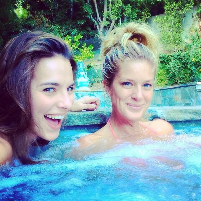 Hot Tub .. Now off to eat @meliakreiling