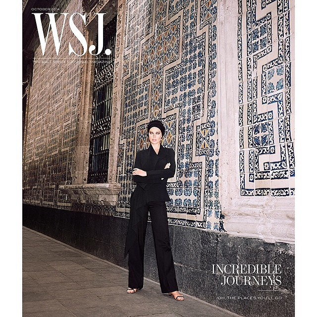 Yay! Excited to share my @wsjmag cover wearing @balenciaga shot by @angelopennetta styling by #GeorgeCortina shot in Mexico City #balenciaga #wsj