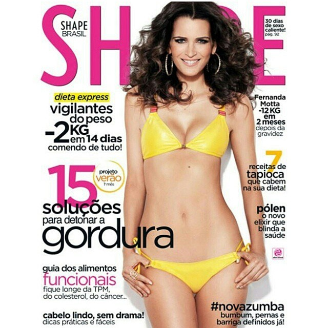 Adorei a capa @revistashape !! Obrigada pelo carinho! A revista está recheada de dicas maravilhosas,o verão tá chegando e a hora é agora!!! Nas bancas!