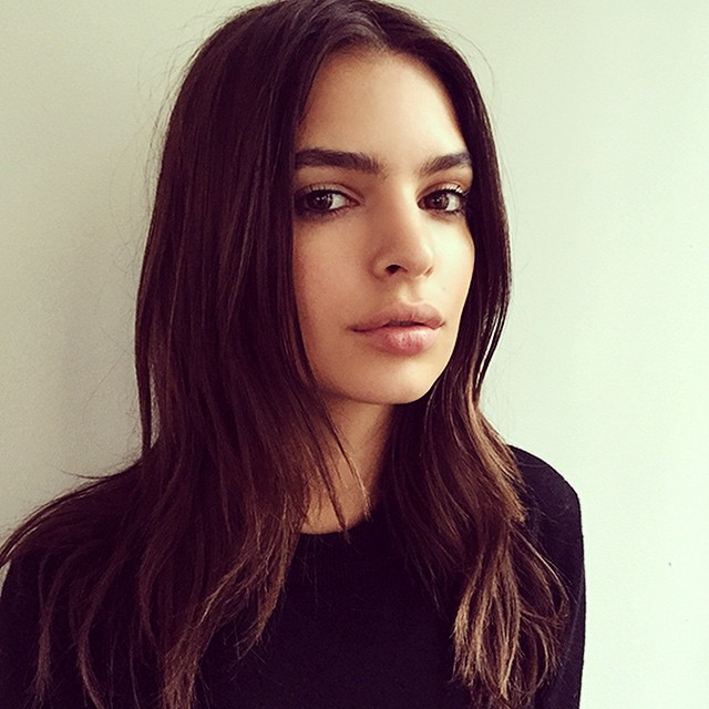 From set to set, the always perfect @emrata popped by for a kiss... @fordmodels #emilyratajkowski #gonegirl