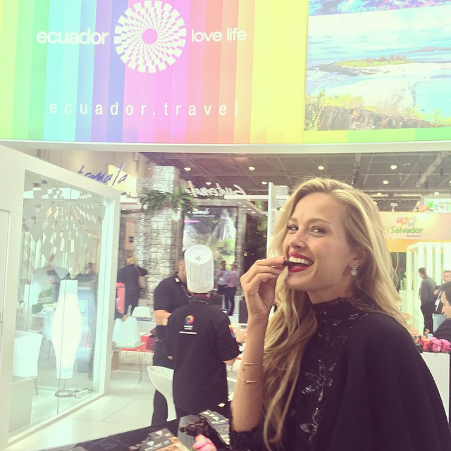 Loved popping to #countries within minutes at @worldtravelmarket. I think that I visited 20 countries in 20 minutes. That is my new record! emoji No #JetLag and tons of #treasures from #travels. Like #chocolate from #Ecuador or #pineapple from #CostaRicca. Getting inspired for the next trip for @bethelightnewyork. Thank u @petergreenberg and Sean for all the fun. #WTM14 #travel #discover