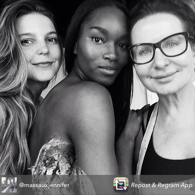 Repost from @massauxjennifer Shot the beginning of an epic #SecretProject yesterday with her and the makeup legend @joannegair #Magic So great working with you all!!