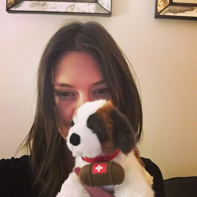 #stbernard surprise gift from my Swiss peeps! Thank you #Calida !!!! XXXX