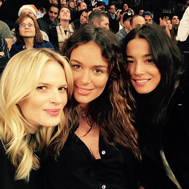 Ran into the most beautiful and sweetest Australians at Knicks vs Nets game tonight @nictrunfio @iamjessicagomes love you ladies