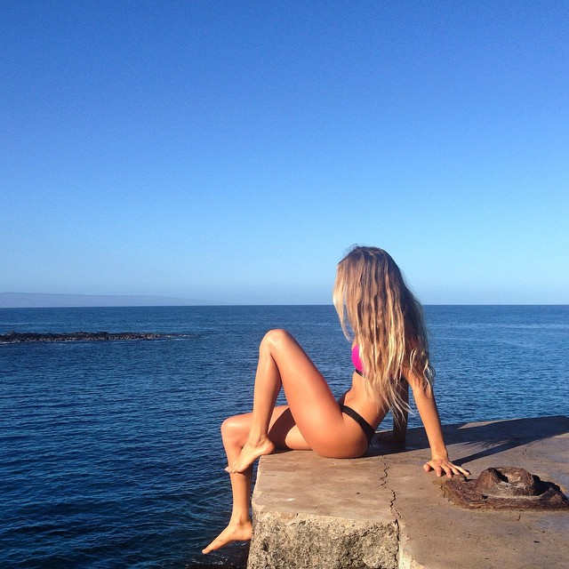 Morning swims. This place is so beautiful.
