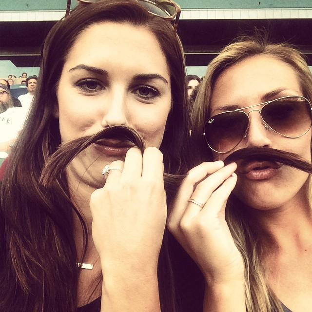 Only a week left of #movember people! @allie_long_