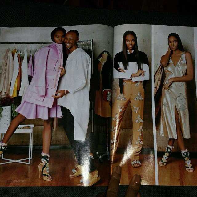 Happy to have been used as your muse for the Jan issue of Essence Mag @jeromelamaar Est. In '06 during our Baby Phat days Love you!!! Wearing @531jerome