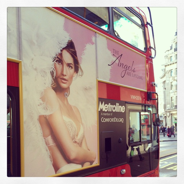 Spotted in London emoji #TheAngelsAreLanding #VSFashionShow @VictoriasSecret