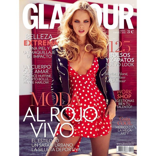 New cover for Spanish Glamour Thank you to the amazing team @hilarybwalsh @riadazar9 @saraglickmakeup