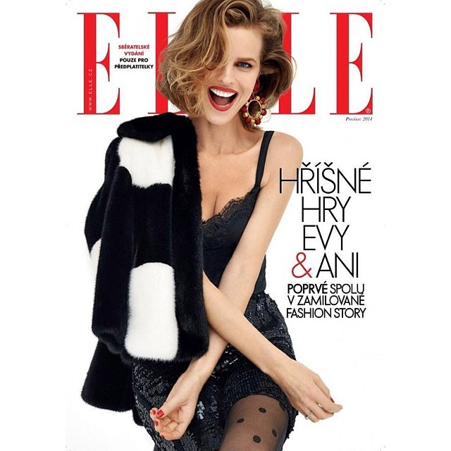 The one and only @evaherzigova for @elleczech || #ONEMANAGEMENT #theONES