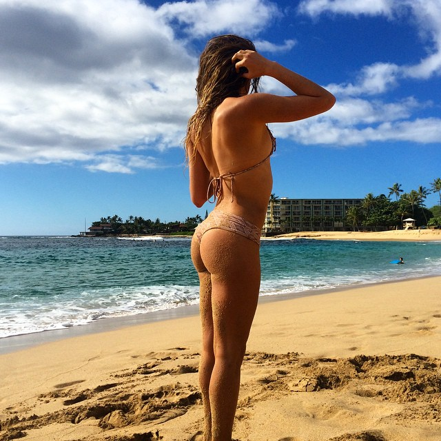 After swim. Made it to the west side for a beautiful beach day - @anastasiaashley #AnastasiaTakeover