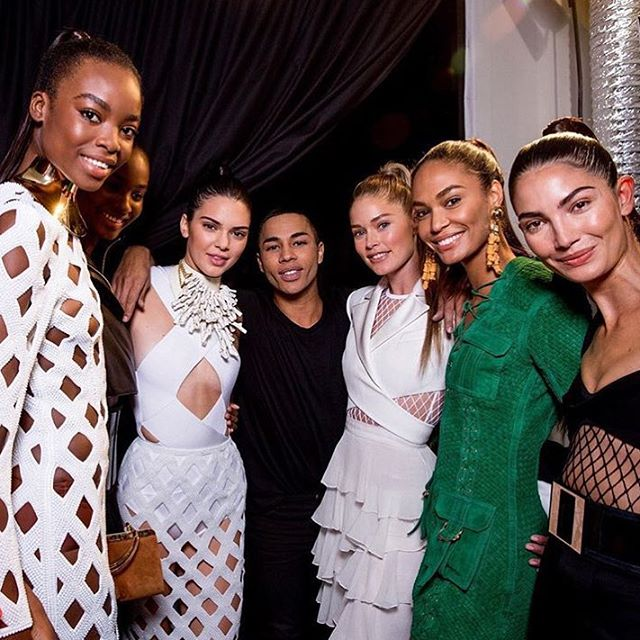 Congratulations @Olivier_Rousteing on another incredible collection!!! #BalmainArmy @BalmainParis