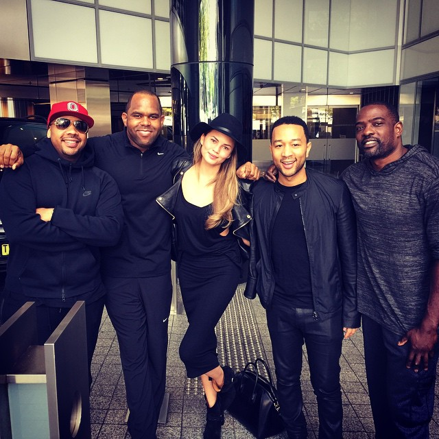 My boys, my family! Congrats on a wonderful #allofme tour!! @bumper3077 @hassanksmith @johnlegend @martynice4