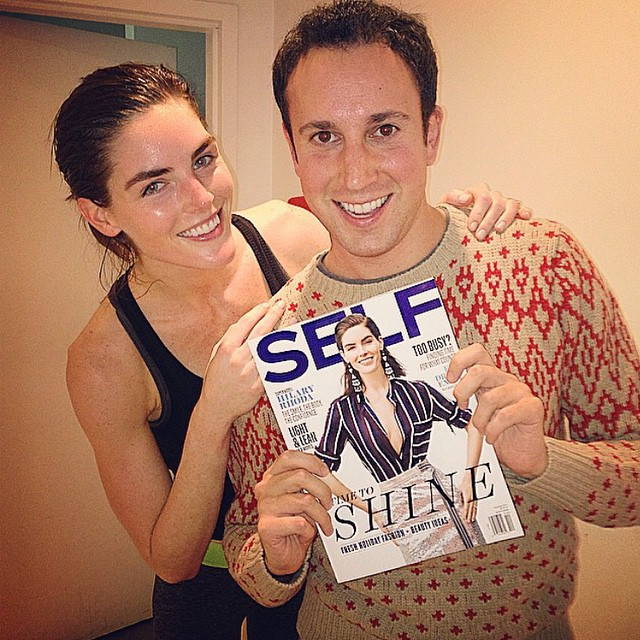 Finished a sweaty workout to find @stevenbeltrani checkin' out the new issue! emojiemojiemoji @selfmagazine