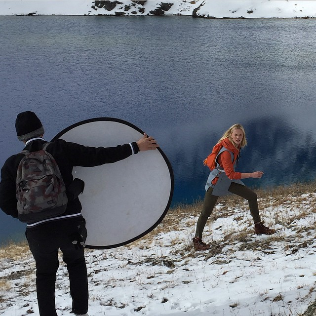 Behind the scenes at my @selfmagazine shoot - on location in the beautiful San Juan Mountains. Thank you, #SelfMagazine for a great adventure and a wonderful feature! emoji️emoji #GratitudeSeason #Hiking #BTS #TheLionsNY