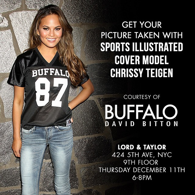 Come meet me at Lord + Taylor in NYC tomorrow for Guy's Night Out! Extra long hugs if you're wearing @Buffalojeans! GIRLS TOO!