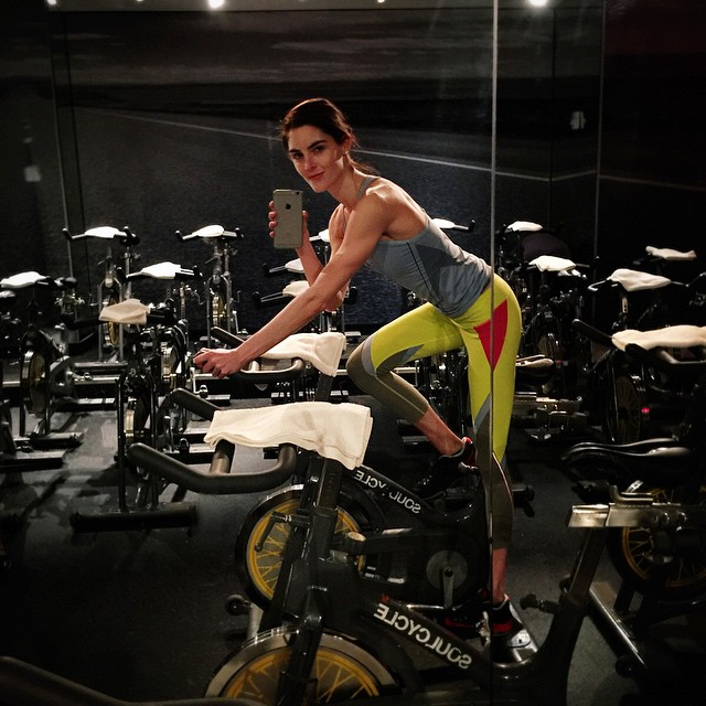 Happy New Year! So happy to be a part of @voguemagazine's Fitness Guide. Let's start the year off right together! At one of my favorite places to sweat, @soulcycle, wearing @lucashughlondon & @splits59 #VOGUEFIT