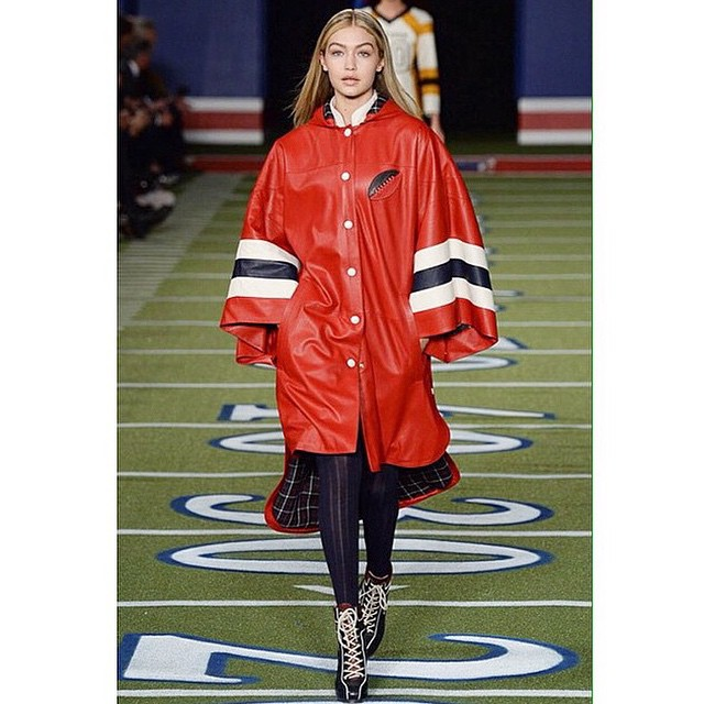 Thank you @tommyhilfiger for the most incredible show to open up my NYFW: the highs of the runway and Friday Night Lights all in one! Still buzzin!